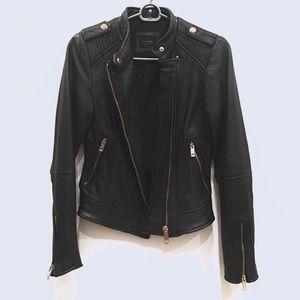 Zara Lambskin Leather Jacket XS